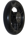4 x 1 in. Three Spoke Wheelchair Caster Wheel - Angled view shown with black tire