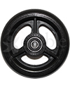 4 x 1 in. Three Spoke Wheelchair Caster Wheel - front view shown