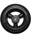 5 x 1 in. Shox® Hollow Spoke Wheelchair Caster Wheel - front view shown with black tire