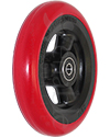 5 x 1 in. Shox® Hollow Spoke Wheelchair Caster Wheel - angled view of red color shown