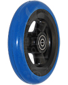 5 x 1 in. Shox® Hollow Spoke Wheelchair Caster Wheel - angled view of blue color shown