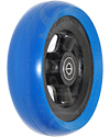 5 x 1.5 in. Shox® Hollow Spoke Wheelchair Caster Wheel - angled view off blue tire shown