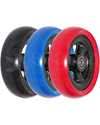 5 x 1.5 in. Shox® Hollow Spoke Wheelchair Caster Wheel - Angled view shown of all the colors