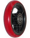 4 x 1 in. Three Spoke Wheelchair Caster Wheel - Angled view shown with red tire