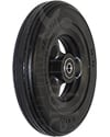 6 x 1 1/4 in. Hollow Spoke Wheelchair Caster Wheel with Solid Multi-Rib Aero-Flex™ Tire - Angled view shown