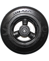 6 x 1 1/4 in. Hollow Spoke Wheelchair Caster Wheel with Solid Multi-Rib Aero-Flex™ Tire - Front view shown