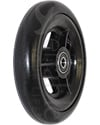 5 x 1 in. Three Spoke Wheelchair Caster Wheel - Round Tire - Angled view shown
