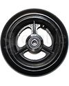 5 x 1 in. Three Spoke Wheelchair Caster Wheel  with Urethane Tire - Front view shown