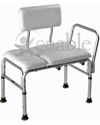Carex® Deluxe Vinyl Padded Transfer Bench with Full Seat