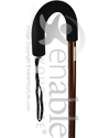 Mabis DMI Retractable Ice Tip Cane - Close-up view of the handle and strap