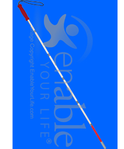 Mabis DMI Folding Cane for Visually Impaired - Reflective view shown