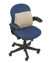 Mabis DMI Standard Lumbar Cushion with Strap in use