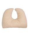 Mabis DMI Crescent Pillow Mate - Shown with fleece cover