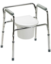 Guardian 3-in-1 Premium Chrome Plated Steel Commode / 350 lb Capacity