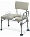 Guardian Premium Padded Transfer Bench with Commode Opening