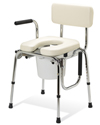 Guardian Premium Padded Drop Arm Commode With 350 lb Capacity