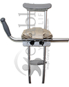 Guardian Padded Crutch Platform Attachment - Mounted on a standard set of crutches