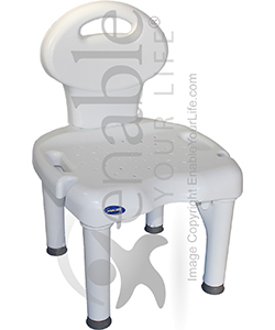 invacare ifit shower chair with back and 400 lb capacity