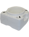 Invacare Basic Raised Toilet Seat - Underside View