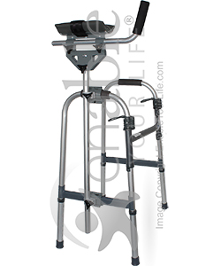 Invacare Walker Platform Attachment - Shown installed on a Invacare 6291 Walker