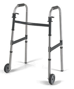 Invacare Dual-Release Walker with 5 in. Fixed Wheels