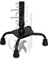 Invacare® Small Base Bariatric Quad Cane with 700 lb Capacity - Heavy duty base shown close-up