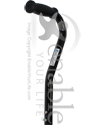 Invacare® Bariatric Cane with Offset Handle and 700 lb Capacity - Close-up view of the cane handle
