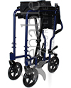 ProBasics® Lightweight Aluminum Transport Wheelchair - Folded view shown