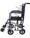 ProBasics® Lightweight Aluminum Transport Wheelchair - Side view shown