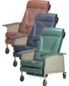Invacare® 3-Position Deluxe Wide Geriatric Recliner - All three colors shown