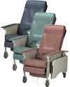 Invacare® 3-Position Deluxe Geriatric Recliner - Showing all three colors