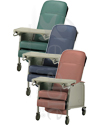 Invacare® 3-Position Geriatric Recliner - All three colors shown