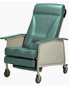 Invacare® 3-Position Deluxe Wide Geriatric Recliner - Jade model shown