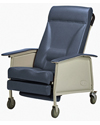 Invacare® 3-Position Deluxe Wide Geriatric Recliner - Blueridge model shown
