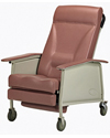 Invacare® 3-Position Deluxe Wide Geriatric Recliner - Rosewood model shown