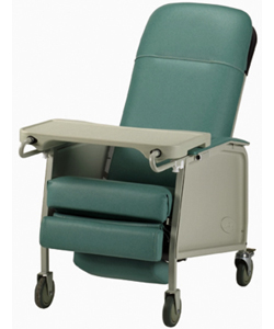 Invacare 3-Position Geriatric Recliner - Angled view of Jade model shown