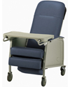 Invacare 3-Position Geriatric Recliner - Angled view of blueridge model shown