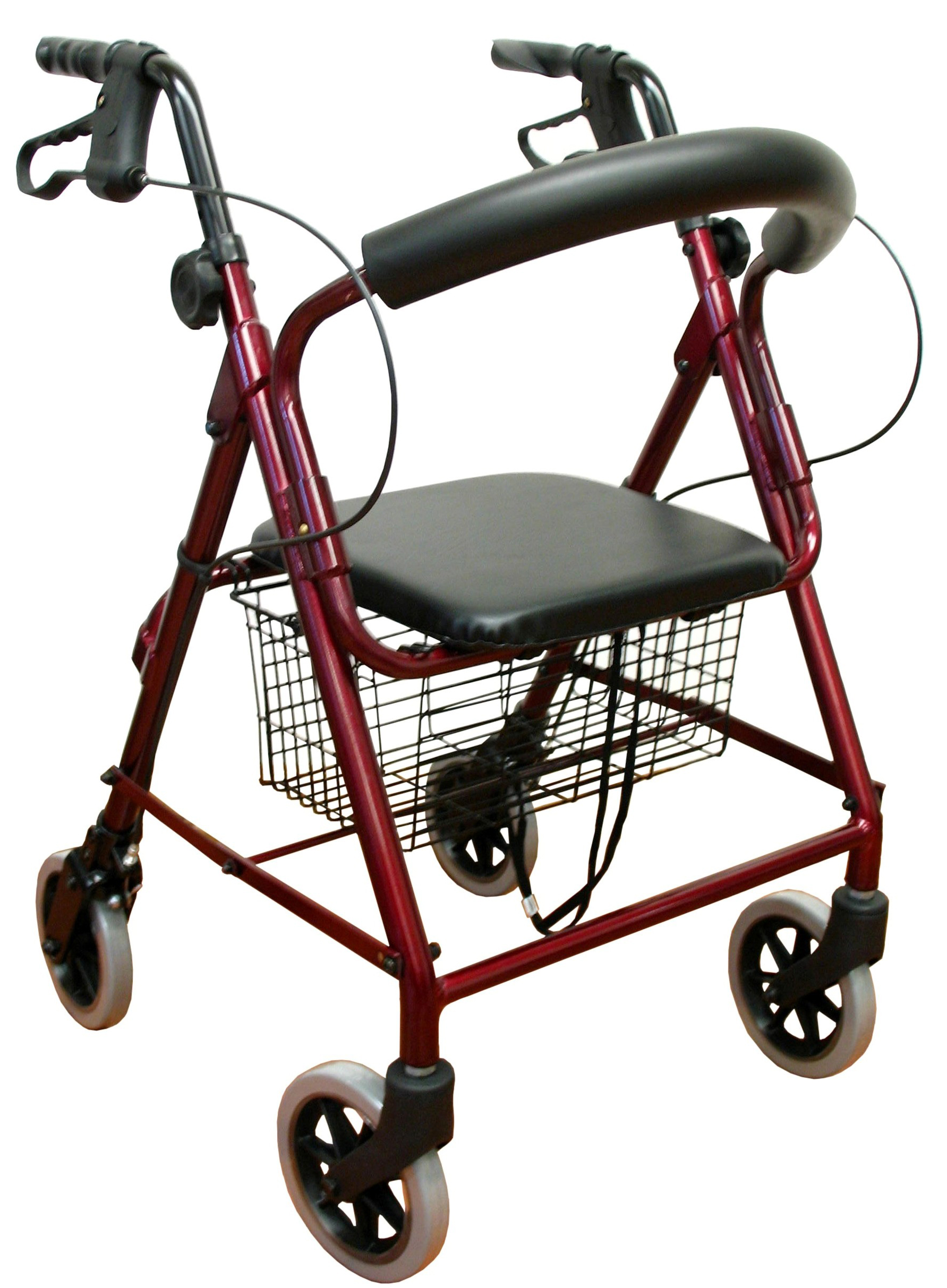 Karman Aluminum Frame Hemi Height Rolling Walker