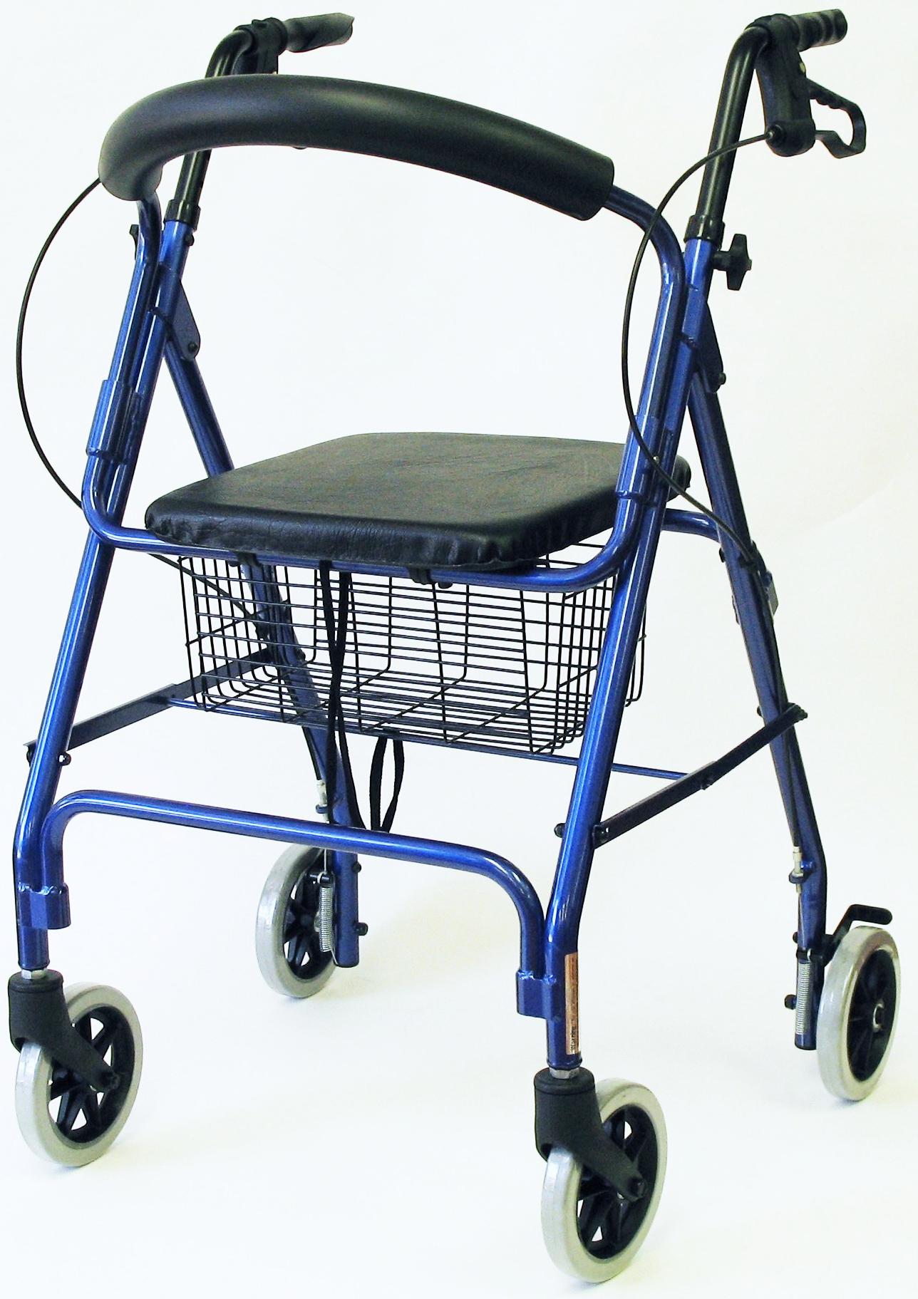 Karman 4 Wheel Roller Walker With Basket