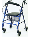 Karman 4 Wheel Roller Walker with Basket