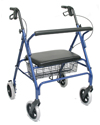 Karman Extra Wide Steel Bariatric Rollator with 400 lb Capacity