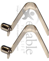 Push Button Locking Pins for Tubing up to 7/8 in.  - 2 pk