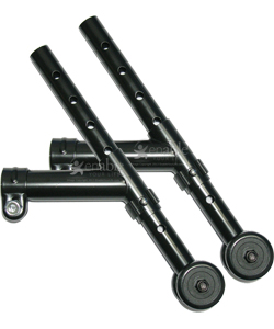 Wheelchair Anti-Tippers – Universal Rear with Rollers and Clamp Mount