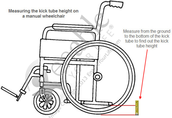 wheelchair anti-tippers for 1 inch tubing