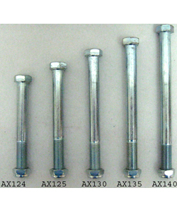 7/16 in. Fine Thread Standard Wheelchair Axle