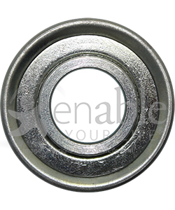 5/8 x 1 3/8 in. 58138 Flanged Wheelchair or Scooter Bearing - Front view shown