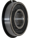 17 mm x 40 mm 6203RS Precision Wheelchair or Scooter Bearing With Ring - Angled view shown