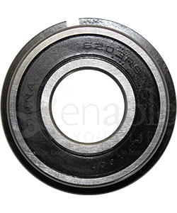 17 mm x 40 mm 6203RS Precision Wheelchair or Scooter Bearing With Ring - Front view shown