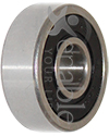 5/16 x 29/32 in. 1605RS Precision Wheelchair or Scooter Bearing - Angled view shown