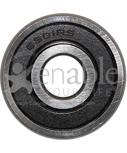 12 mm x 37 mm 6301RS Precision Wheelchair or Scooter Bearing - Front view shown